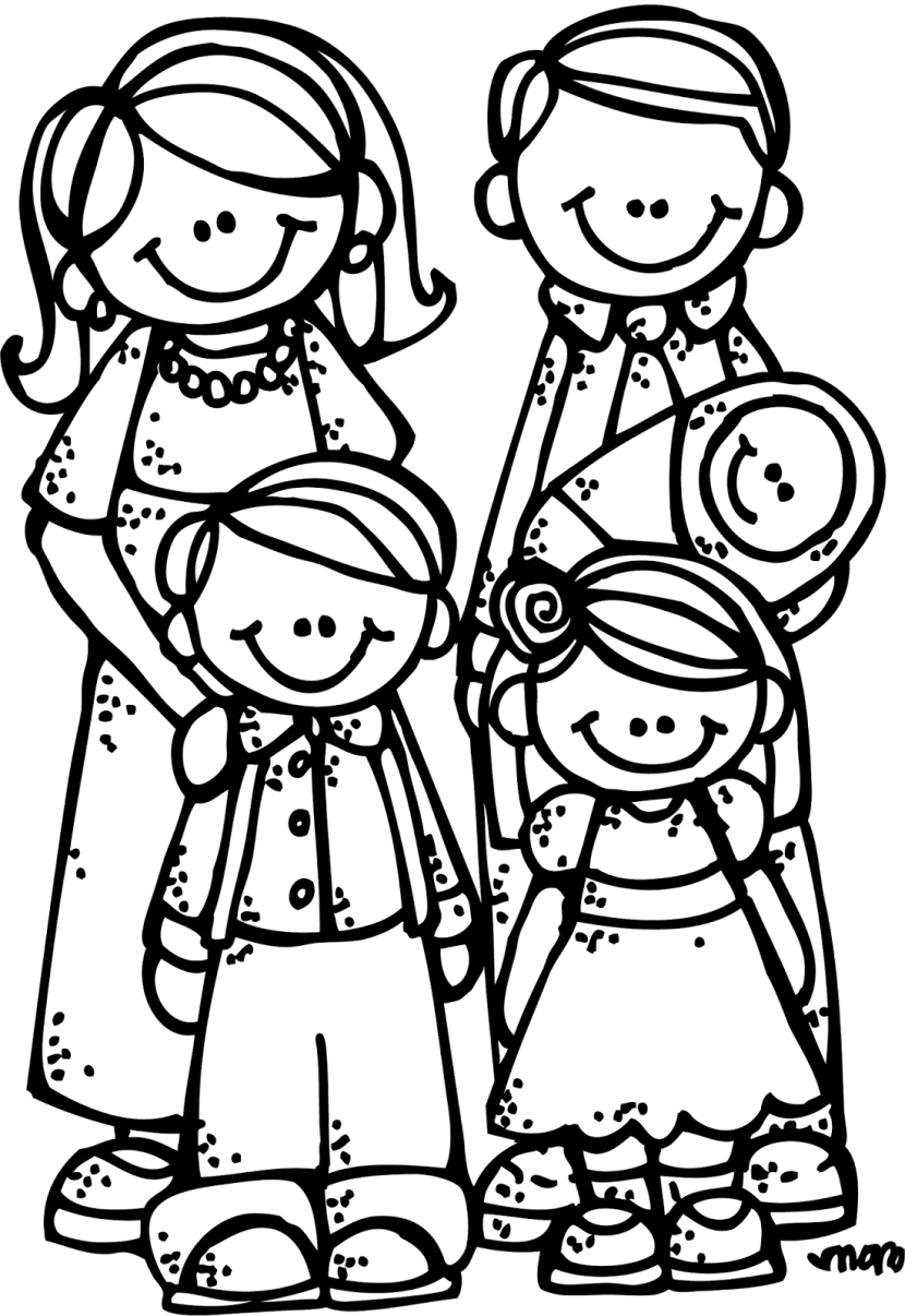 Lds Family Clipart Black And White.
