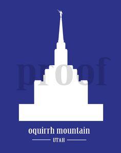 Logan Utah Temple Silhouette LDS Mormon by ILoveToSeeTheTemple.