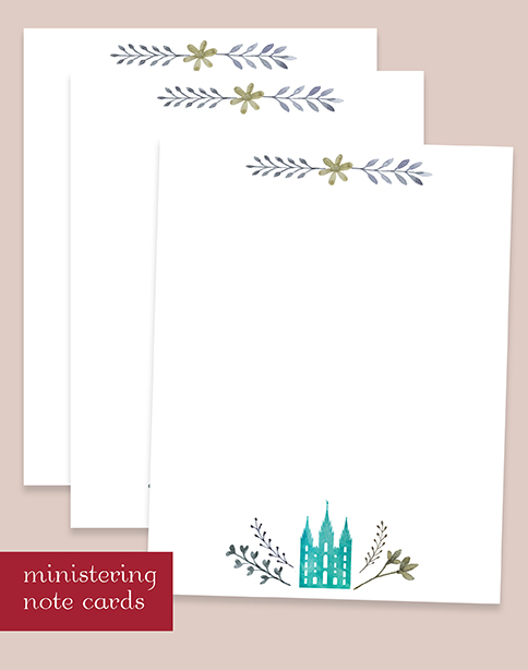 FREE Digital Download I Ministering Note Cards.