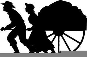 Lds Pioneer Handcart Clipart.