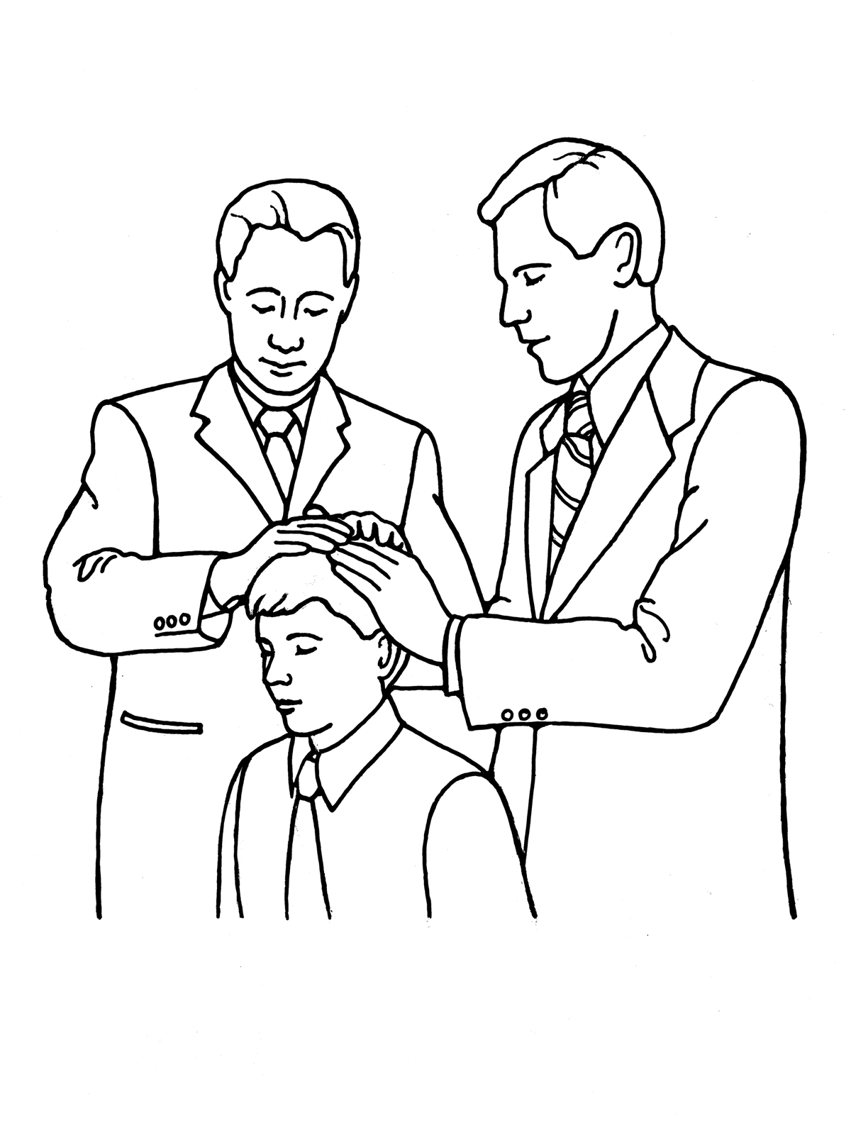 Lds Priesthood Blessing Clipart Clipground