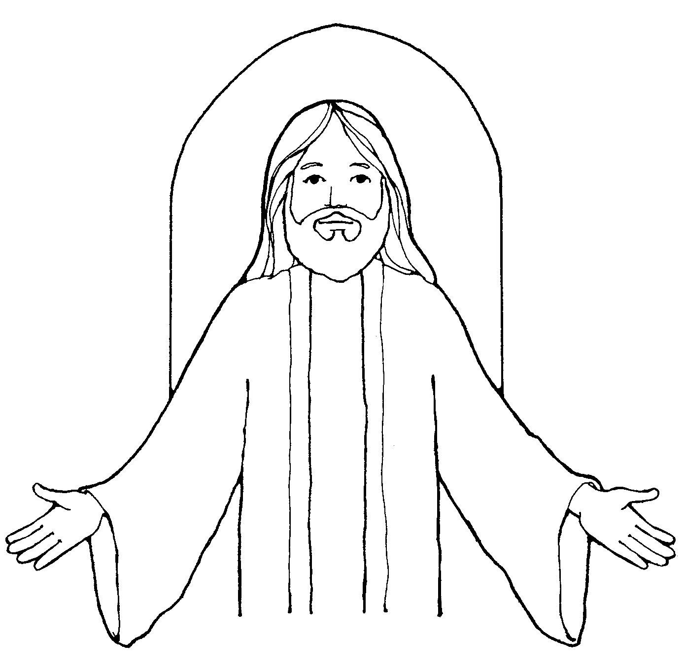 free lds clipart to color for primary children.
