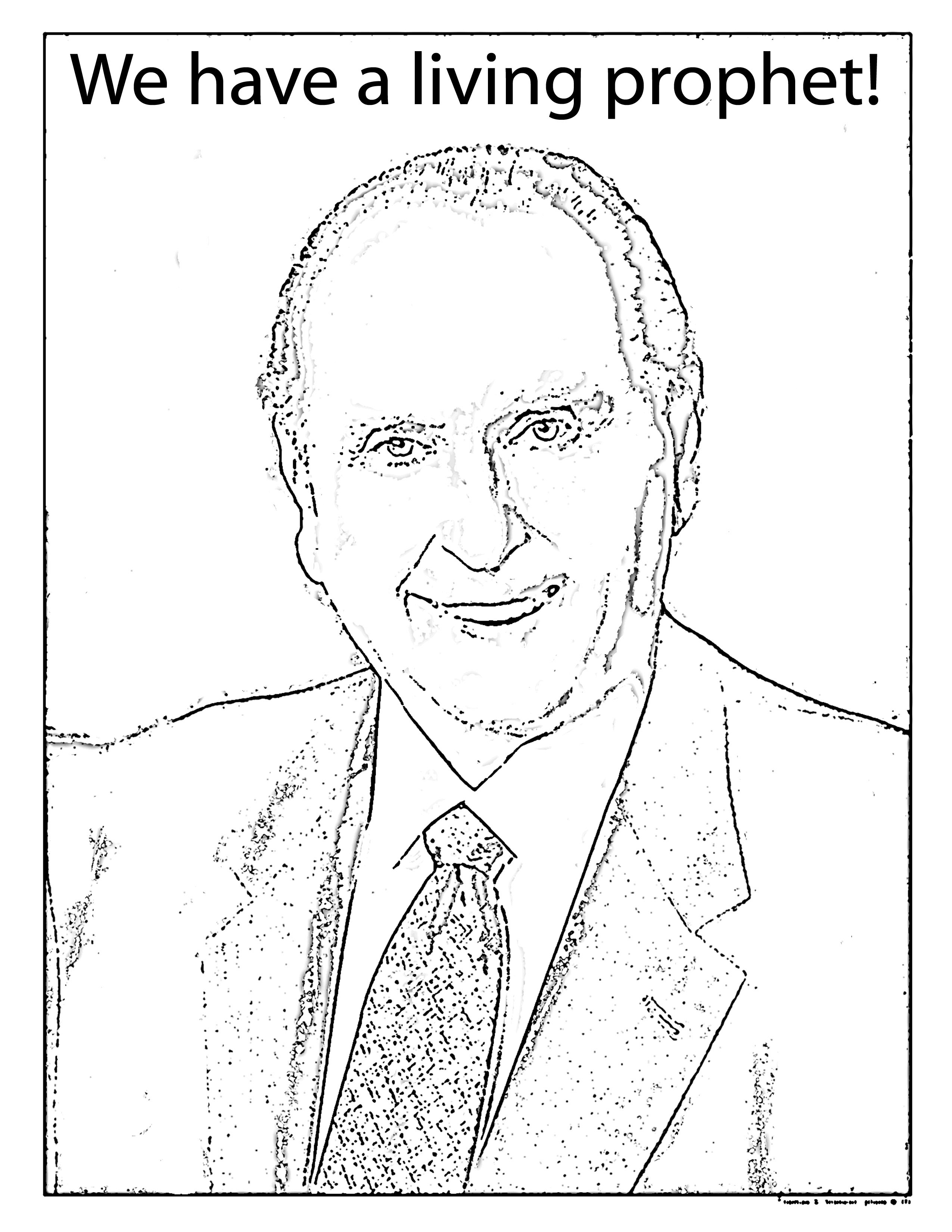 Mormon Share President Monson Coloring Page
