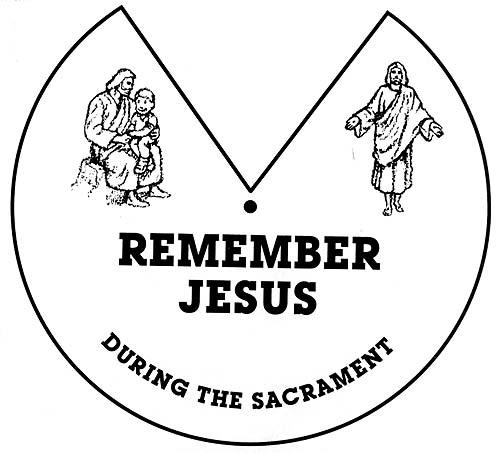 Lds Sacrament Clipart Jesus.