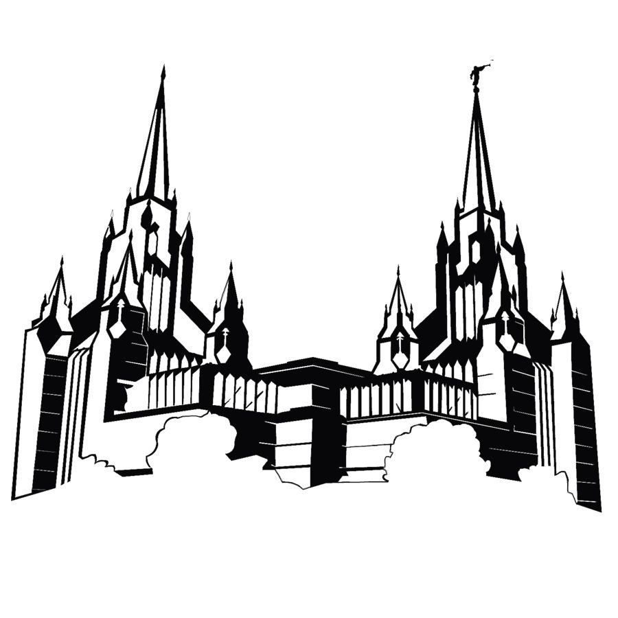 Lds Temple Drawing.