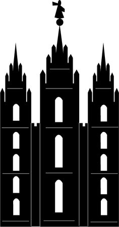 Lds Temple Silhouette Clipart Clipground