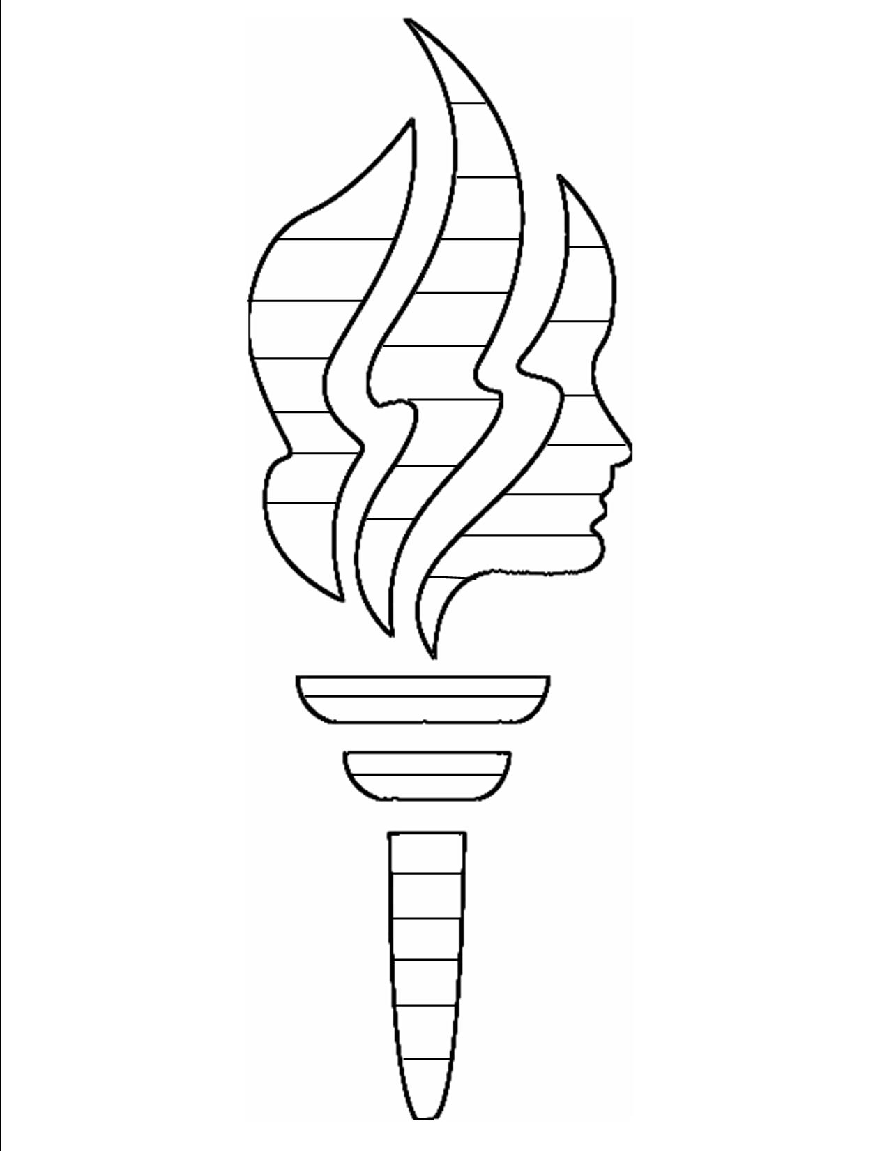 LDS Young Women Torch Clip Art free image.