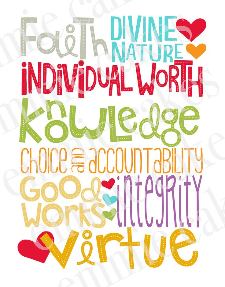 17 Best ideas about Young Women Values on Pinterest.