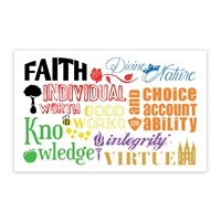 Young Women Values Bookmark in Bookmarks.