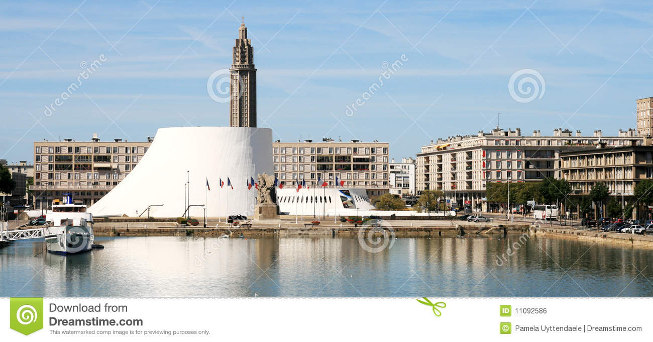 Le Havre Panorama: The Volcano Royalty Free Stock Image.
