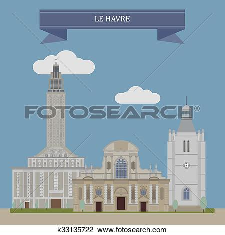 Clipart of Le Havre, France k33135722.