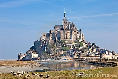Le Mont St Michel Normandy, France Royalty Free Stock Photography.