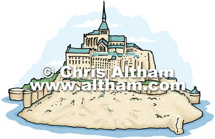 Clipart mont saint michel.