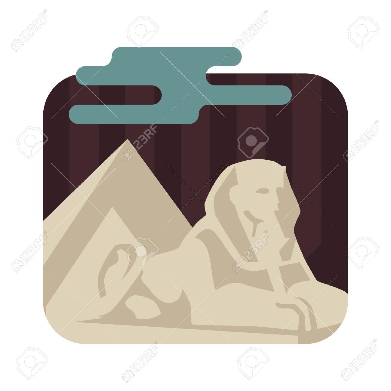 Sfinge E Le Piramidi Di Giza Clipart Royalty.