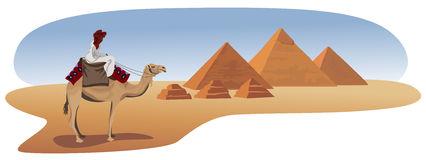 Paesaggio Con Le Piramidi Illustrazioni, Vettoriali E Clipart.