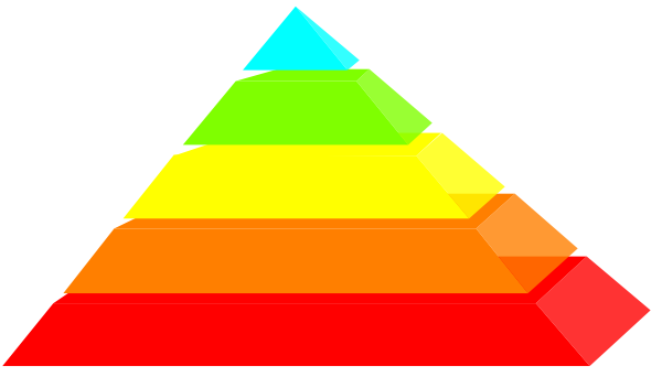 Rainbow Pyramid Clip Art at Clker.com.