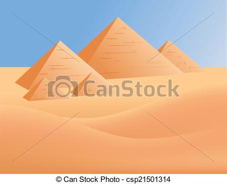Clipart vettoriali di Egitto, piramidi.