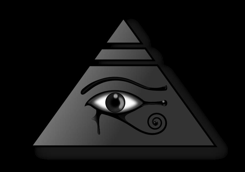 Free Clipart: Piramide con el Ojo de Horus.