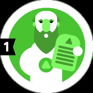 Badge : Prêcheur (Niveau 1).