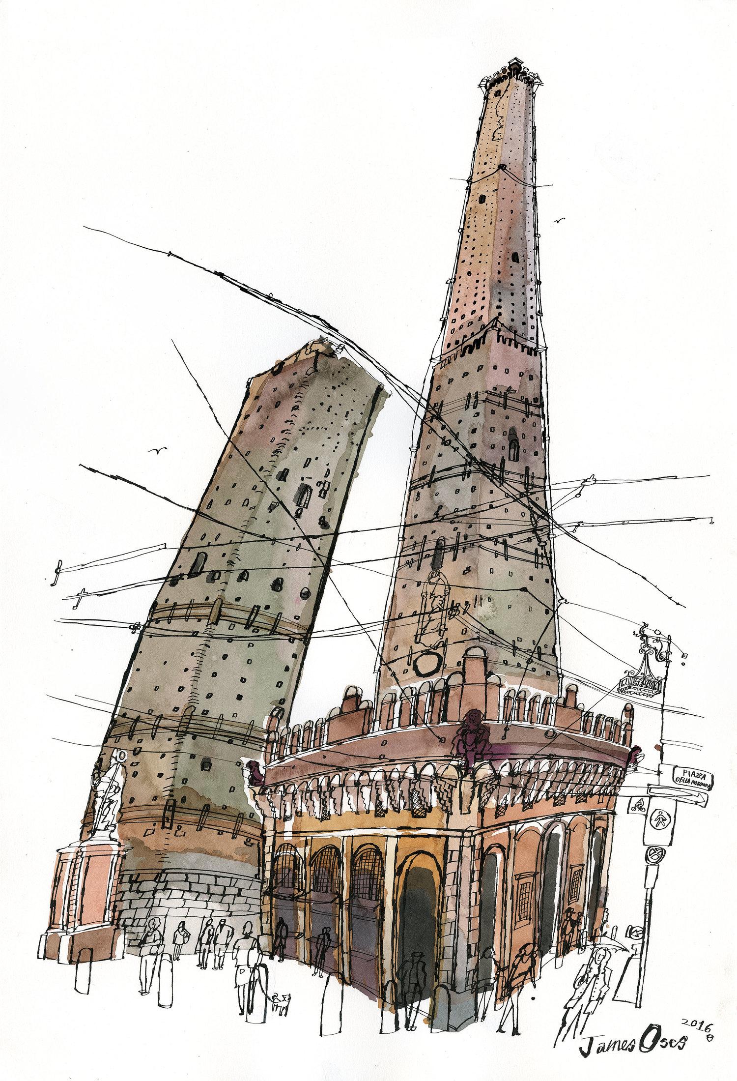 Le due Torri, Bologna — James Oses.