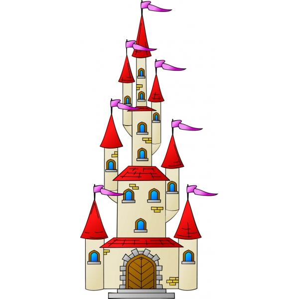 Disegno di Il Castello con le Torri a colori per bambini.