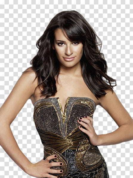 Lea Michele M transparent background PNG clipart.