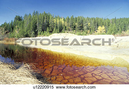 Stock Image of Leaching Mine on River u12220915.