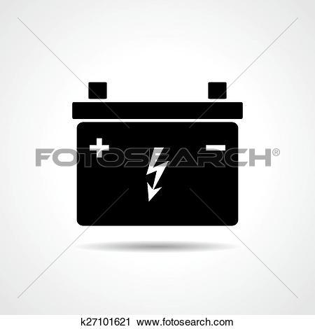 Clipart of Car lead accumulator icon k27101621.