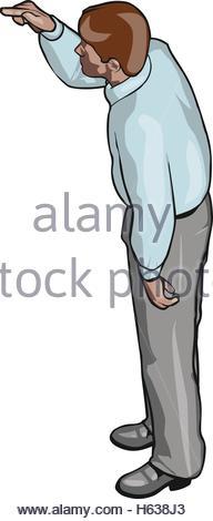 Isometric Businessman Sale Lead Bank Congress Man Icon Set. Male.