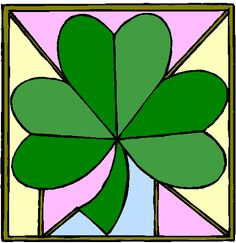 shamrock in stained glass.