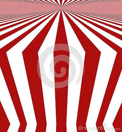 Red White Striped Design Stock Illustration.