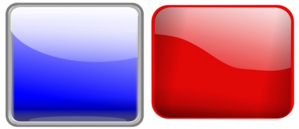 Glossy Button Blank Red Square Clip Art Download.