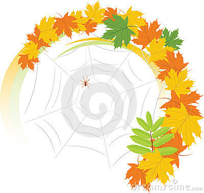 Leaves Spiderweb Stock Illustrations, Vectors, & Clipart.