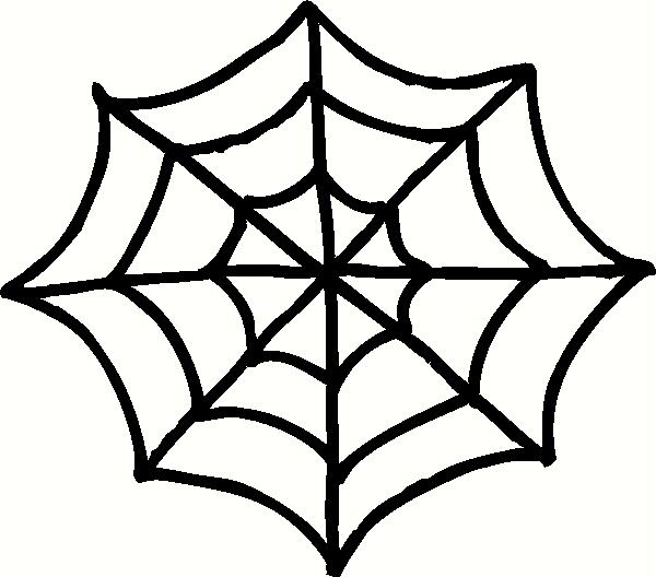 Leaf and spider web clipart clipground - Spider outline clip art ...