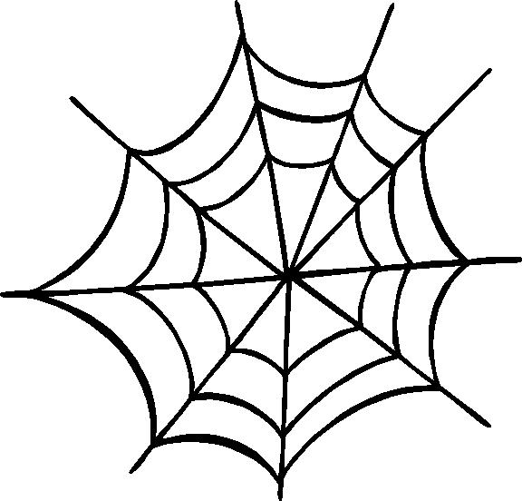 Leaf and spider web clipart #4