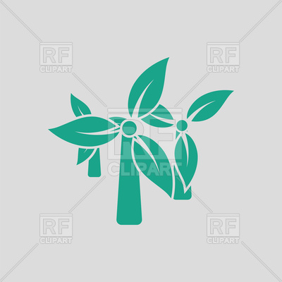 Windmill leaves in blades icon Vector Image #148088.