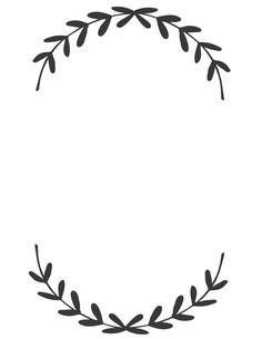 Leaf Border Clipart Black And White.