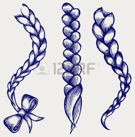 3,261 Braid Hair Stock Vector Illustration And Royalty Free Braid.