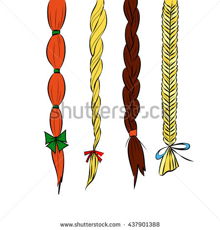 Braided Hair Stock Images, Royalty.