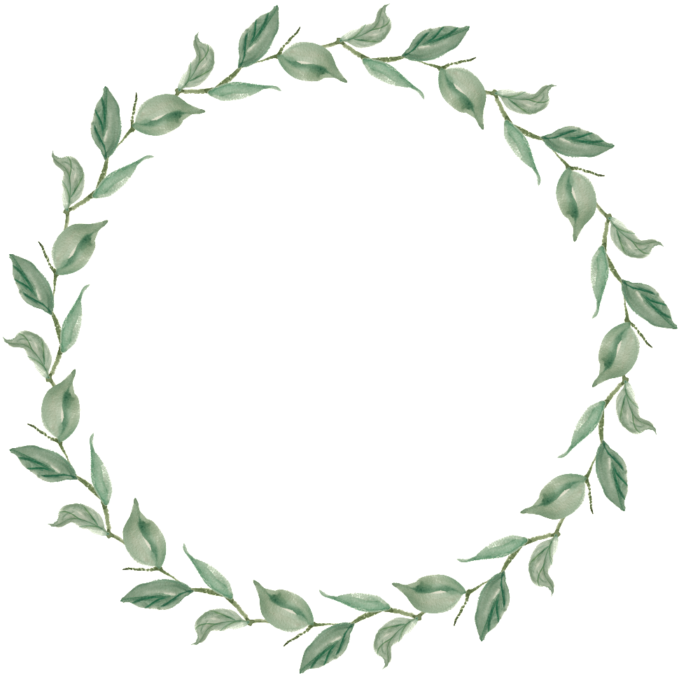Flying Leaf Circle Transparent Decorative.