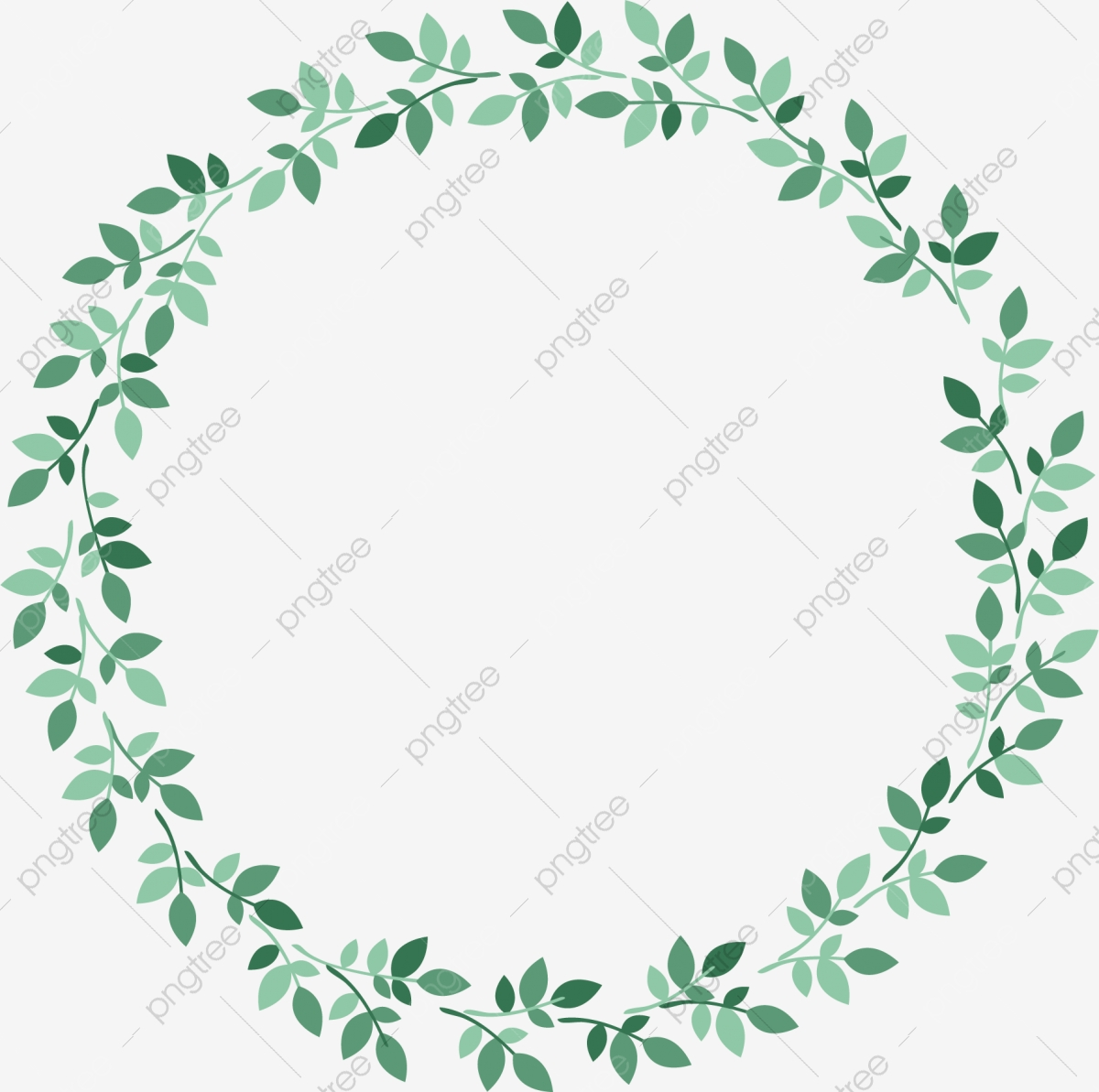 Hand Painted Leaves Circle, Spring Background, Spring.