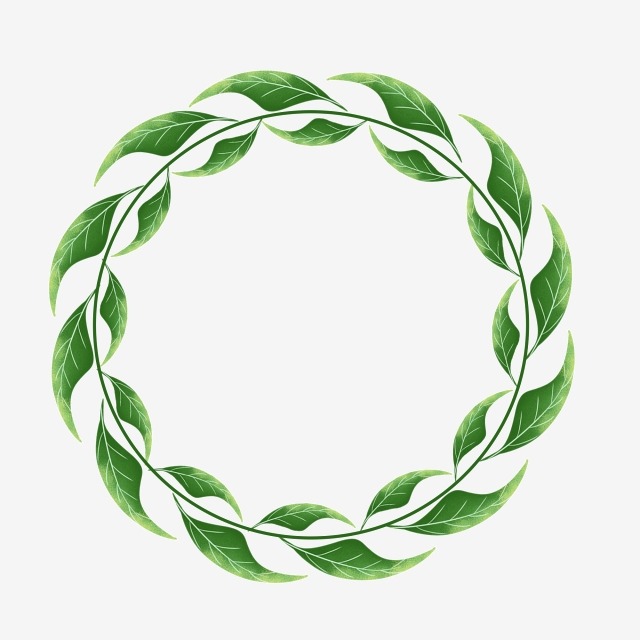 Leaf Circle, Leaf Pattern, Round Border Pattern, Leaves PNG.