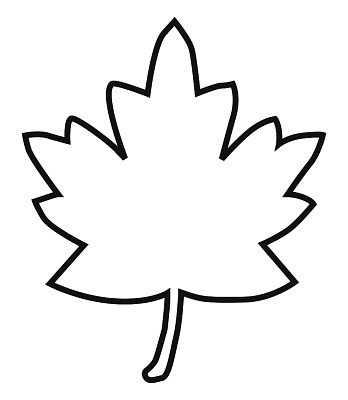 Maple Leaf Clipart Black And White.