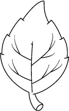 Fall Leaves Outline Clipart.