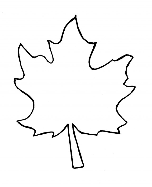 Oak Leaf Coloring Page Clipart Clipground