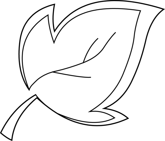 Tree Leaf Coloring Page.