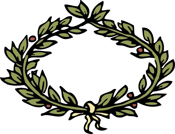 Leaf crown clipart #4