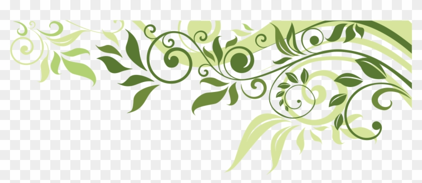 Flower Leaf Spring Illustration Banner Border Clipart.
