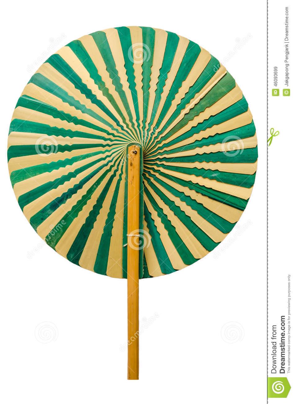 Talipot Palm Leaves Fan Stock Photo.