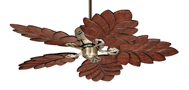 Banana leaf ceiling fan.